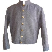 Gray Wool Fully-Lined ( 7 CSA Buttons )