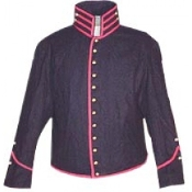 Navy- Blue Shell Jacket, Rolled Bolsters, Red piping