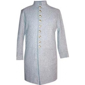 Frock, Single Breasted, Gray wool,