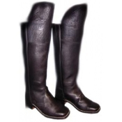 Knee Flap Boot, Black 607B