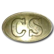 CS Oval Back Filled Brass Buckle
