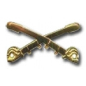 Hat Brass Crossed Saber pin